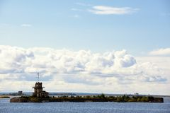 View on island near Kronstadt Royalty Free Stock Photos