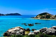 Okinawa island beach japan Tokashiki. View  island Okinawa summer royalty free stock photography