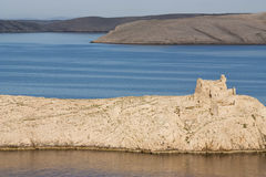 View on the island of Pag Stock Image