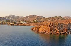 The Island of Patmos, Greece with Copy Space stock images