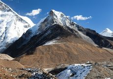 View of Island peak or Imja Tse Royalty Free Stock Photo