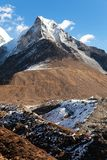 View of Island peak or Imja Tse Royalty Free Stock Photography