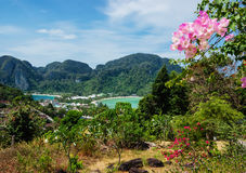 View of the island  Phi Phi Don  from the viewing point, Royalty Free Stock Image