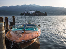View of the island of San Giulio in Lake Orta Stock Photography