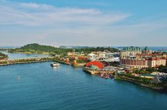 View of the island of Sentosa in Singapore. Stock Photo