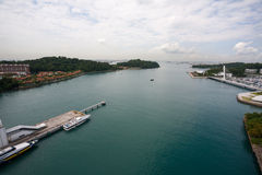 View of the island of Sentosa and Singapore Royalty Free Stock Images