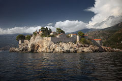 View of island St. Stephan from sea Royalty Free Stock Photography