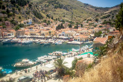 View of the island of Symi Royalty Free Stock Image