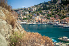 View of the island of Symi Royalty Free Stock Photos