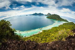 View of the island. Views of the islands from the top of an island Stock Photography