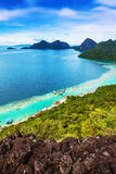 View of the island. Views of the islands from the top of an island Royalty Free Stock Photos