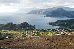 View from island Vulcano. Stock Image