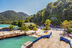 View on island. Welcome to Koh Chang  - view on island, Thailand Stock Image