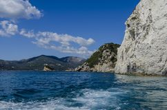 View of the island of zakynthos from the sea Royalty Free Stock Images