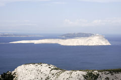 View on the islands in the Adriatic Sea Stock Photography