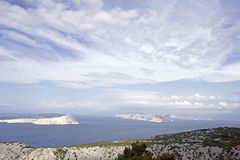 View on the islands in the Adriatic Sea Royalty Free Stock Image