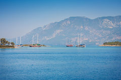 View of islands in Aegean Sea near Marmaris Royalty Free Stock Image