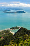 View of the islands of Lankawi Royalty Free Stock Images