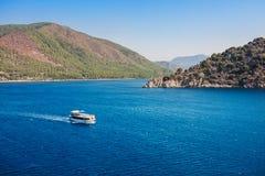 View of islands in Mediterranean Sea. Marmaris Royalty Free Stock Image