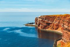 View of the Isle of Helgoland in full sunshine royalty free stock images