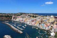 View of isle procida,naples, mediterranean stock images