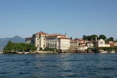 View on Isola Bella. View on palace on Isola Bella on Laco Maggiore, Italy Stock Images