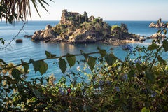 View of Isola Bella beach in Taormina, Sicily Royalty Free Stock Photos
