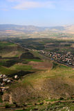 View of Israel. View of Galilee from Arbel mountain, Israel royalty free stock photos