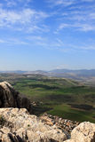 View of Israel. View of Galilee from Arbel mountain, Israel Royalty Free Stock Image