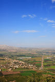 View of Israel. View of Galilee from Arbel mountain, Israel Royalty Free Stock Photography