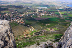 View of Israel. View of Galilee from Arbel mountain, Israel Stock Images