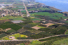 View of Israel. From Arbel mountain in the Lower Galilee Stock Images