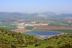 View on Israel valley. Panoramic view on Israel valley from Gilboa mountain Stock Photography