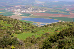 View on Israel valley. Panoramic view on Israel valley from Gilboa mountain Stock Photo