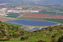 View on Israel valley. Panoramic view on Israel valley from Gilboa mountain Royalty Free Stock Image