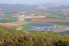 View on Israel valley. Panoramic view on Israel valley from Gilboa mountain Royalty Free Stock Images