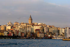 View of Istanbul. With Galata Tower stock image