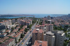 View of Istanbul and Bosphorus, Turkey. View of the central part of Istanbul with the Bosphorus Royalty Free Stock Photo
