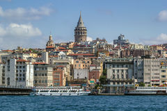 View of Istanbul Beyoglu area royalty free stock images