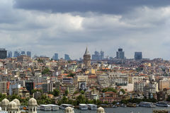 View of Istanbul Beyoglu area stock images