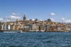 View of Istanbul Beyoglu area, Turkey royalty free stock image