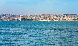 View on Istanbul through Bosphorus Stock Photo