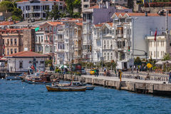 VIew of Istanbul from Bosphorus Strait Royalty Free Stock Photos