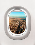 View of Istanbul city in Turkey from airplane window. Flight concept Stock Photography