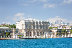 View of Istanbul and Dolmabahche palace Royalty Free Stock Photo