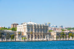 View of Istanbul and Dolmabahche palace Stock Photography