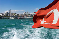 View of Istanbul from the ferry Royalty Free Stock Photo