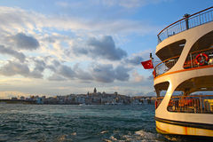View of Istanbul with Galata Tower Stock Photo