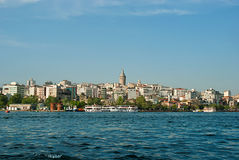 View in Istanbul, Galata Tower Stock Photo