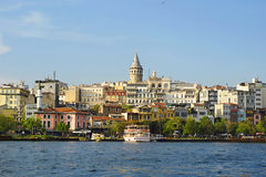 View in Istanbul, Galata Tower Stock Images